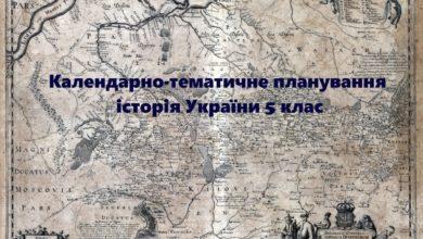 Календарно-тематичне планування історія України 5 клас- Історія в школі