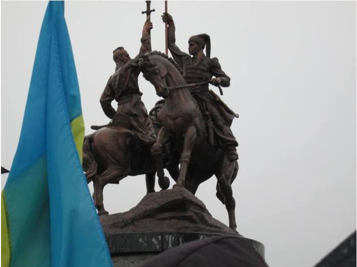 Пам'ятник Залізняку і Ґонті - Історія в школі