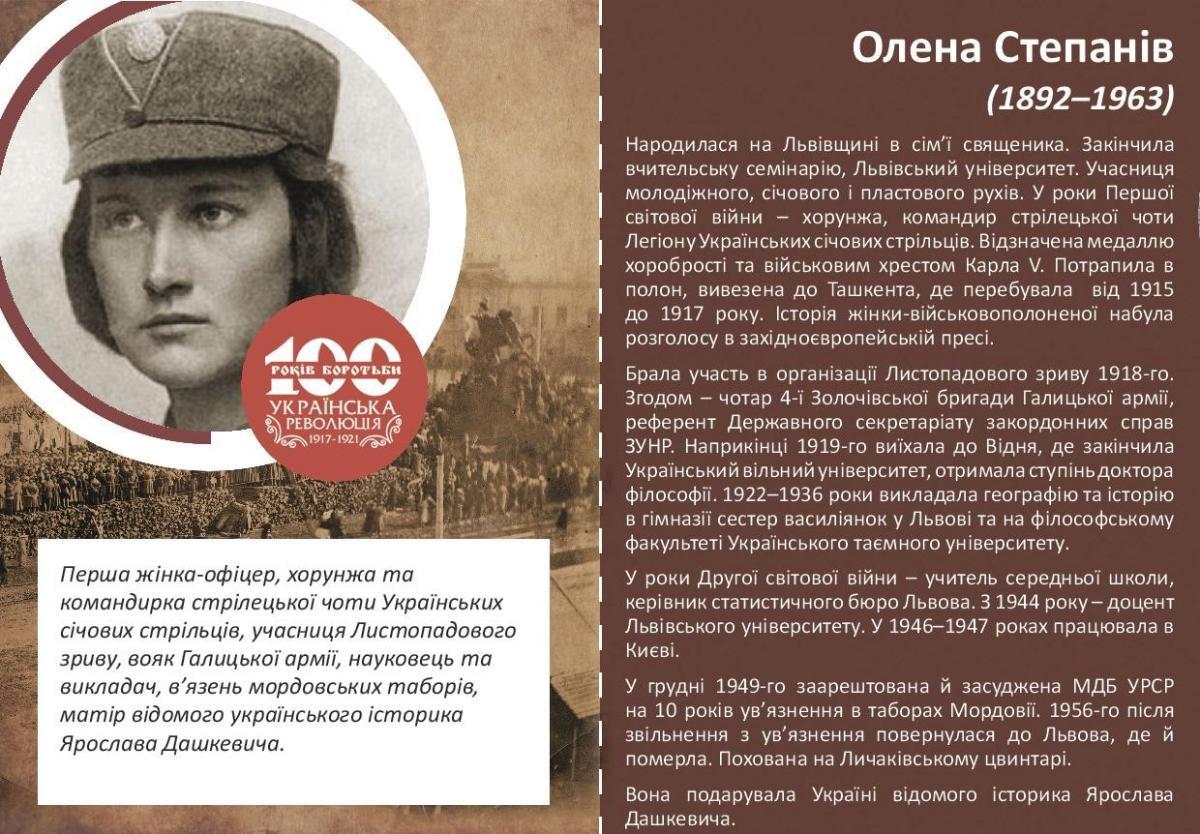 Олена Степанів-Історія в школі